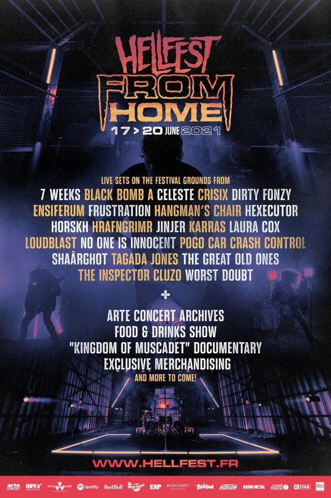 Affiche hellfest from home festival