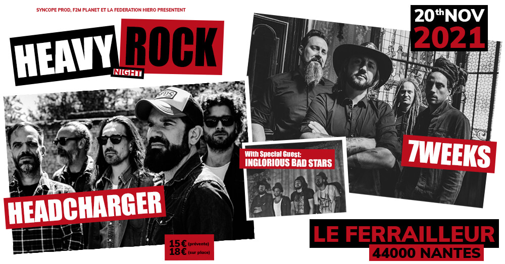Flyer concert 7 Weeks Nantes le 20/11/21